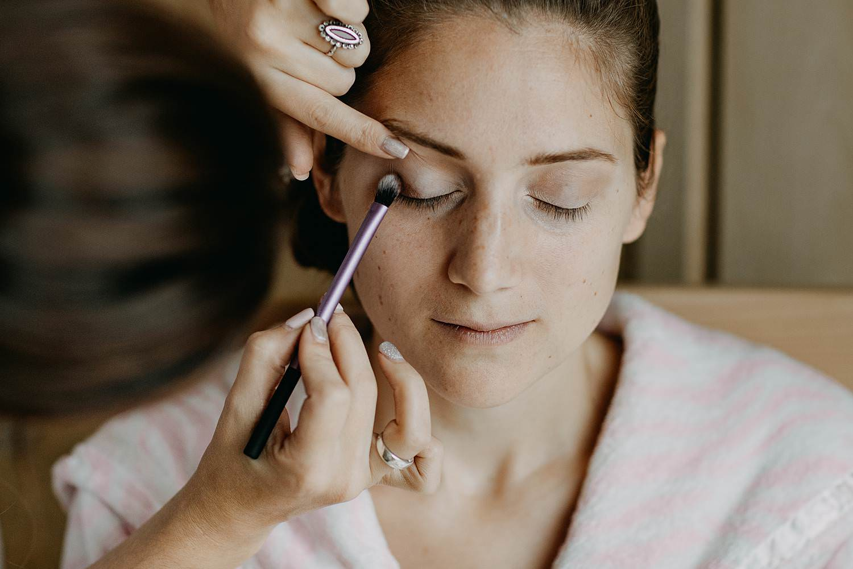Molenstede huwelijk make-up bruid