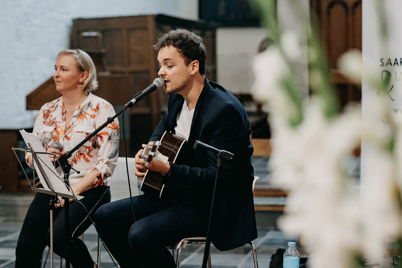 Muzikant huwelijk kerk Zoutleeuw