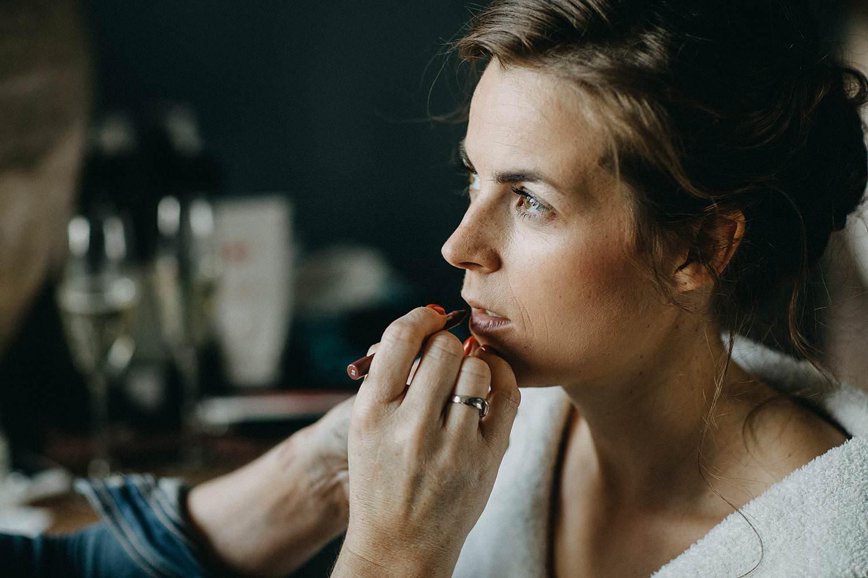 Oelegem huwelijk bruid make-up aan huis