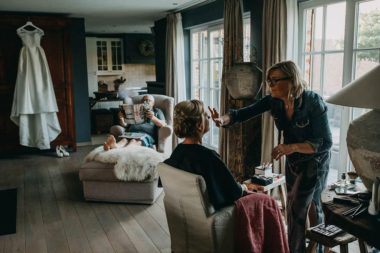 Oelegem huwelijk voorbereiding bruid make-up aan huis