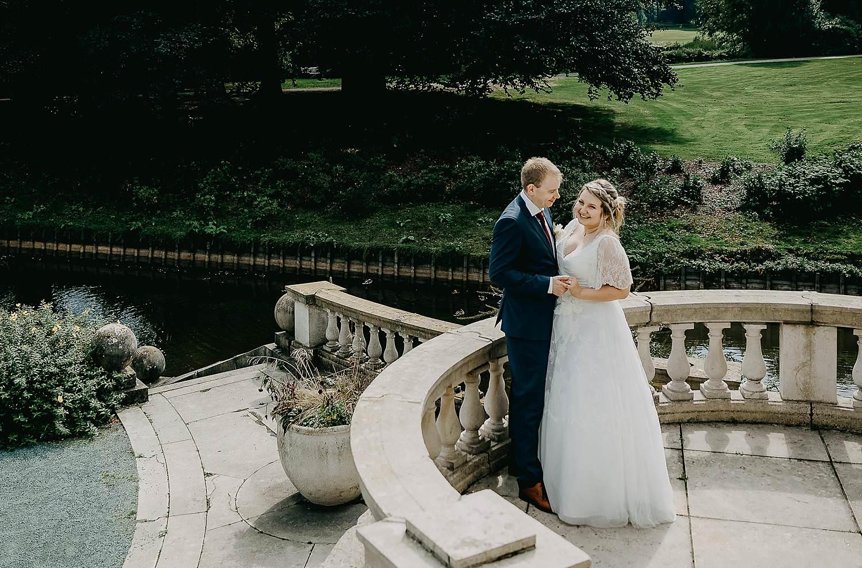 Park den Brandt bruidspaar aan kasteel