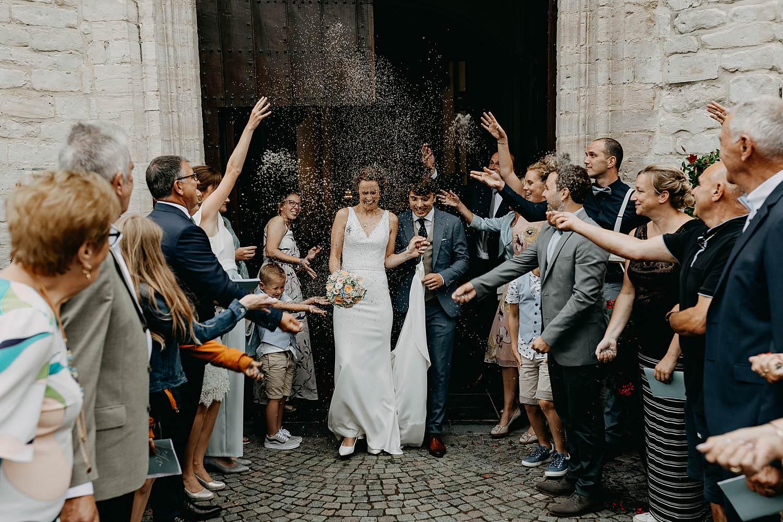 uittrede bruidspaar kerk Zoutleeuw