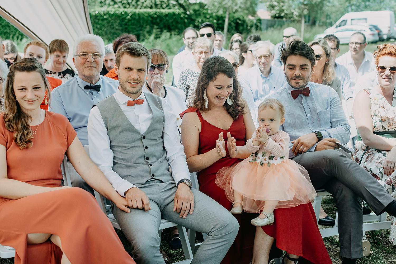 Rumbeke huwelijksceremonie familie in tent