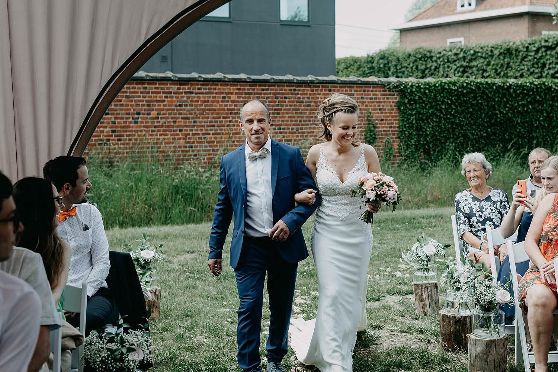 Rumbeke huwelijksceremonie intrede