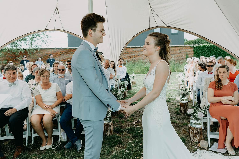 Rumbeke huwelijksceremonie ja-woord