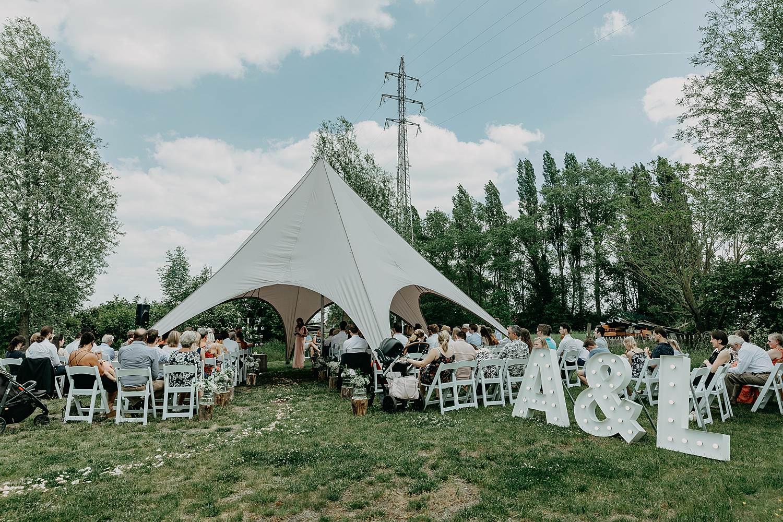 Rumbeke huwelijksceremonie onder tent