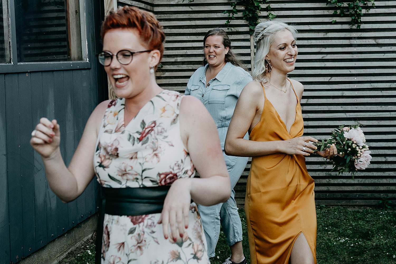 Rumbeke vangen bruidsboeket na tos