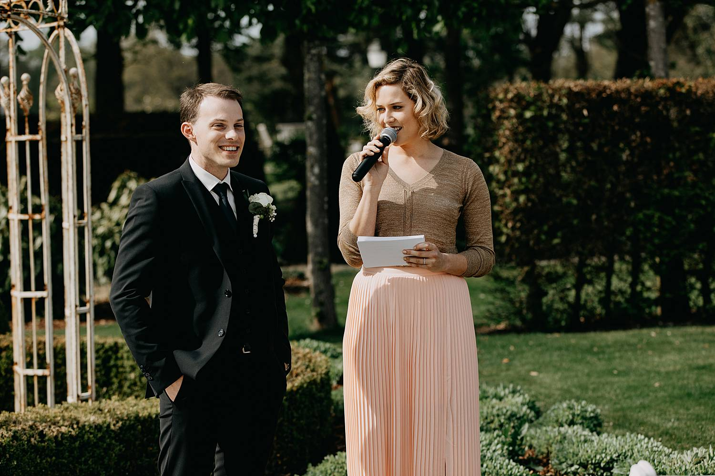 Speech huwelijk tuin zomer