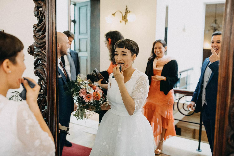 Stadhuis Diest bruid make-up spiegel