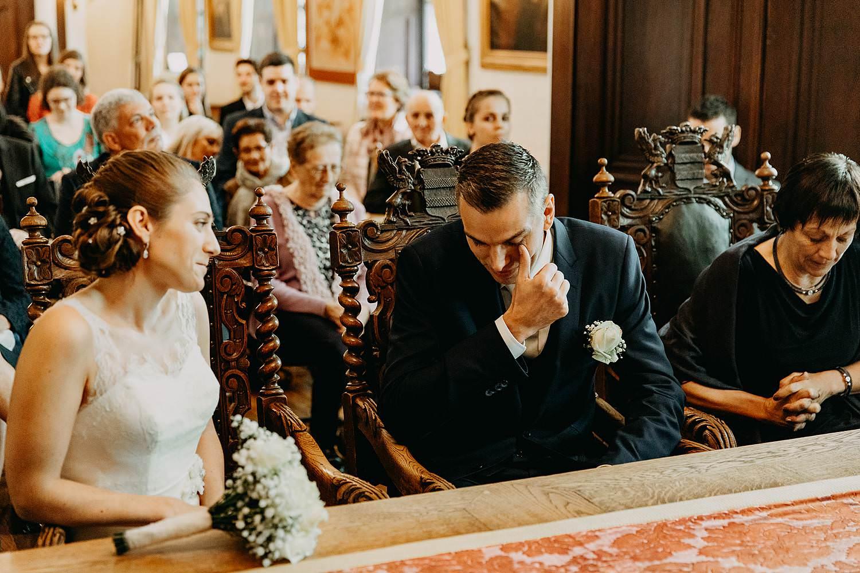 Stadhuis Diest huwelijk bruidegom emotioneel