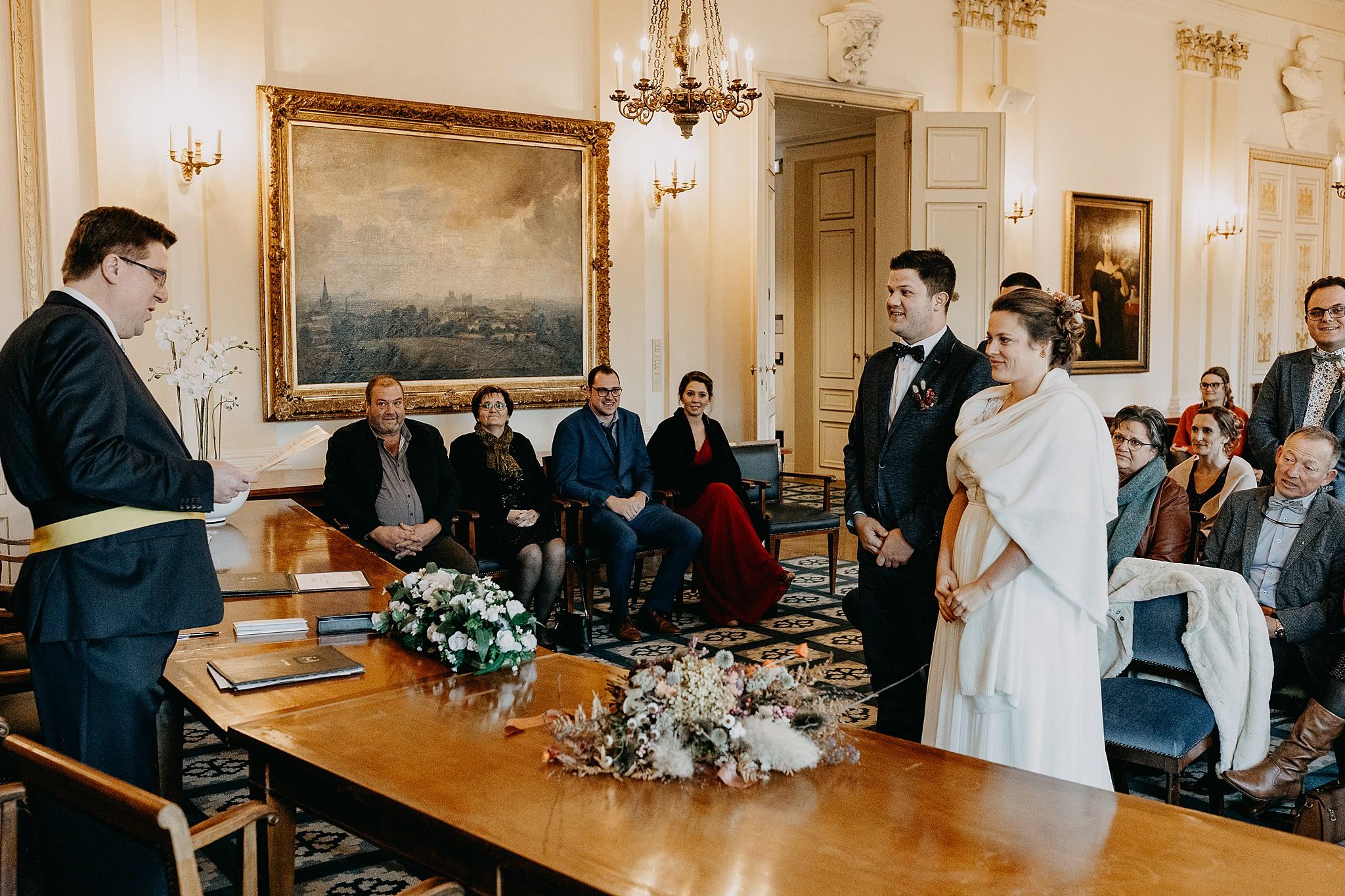 Stadhuis Tienen huwelijk trouwzaal bruidspaar