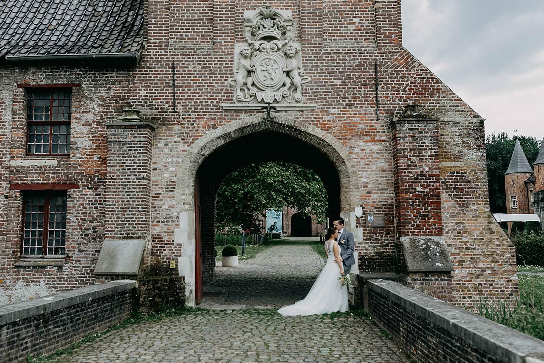 Sterrebos Kasteel Rumbeke bruidspaar