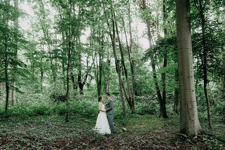Sterrebos Roeselare bos bruidspaar