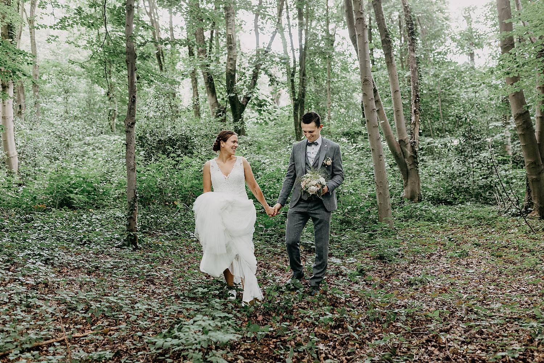 Sterrebos Roeselare bruidspaar in park