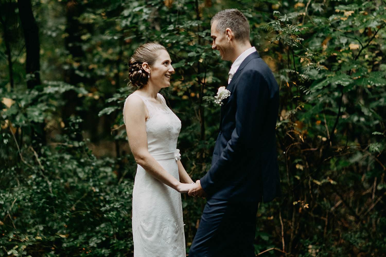 Stiemerheide bruidspaar huwelijksreportage natuur