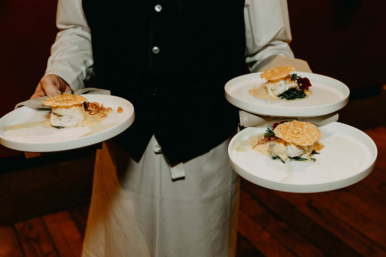 Ter Eeste brouwerij Rodenbach serveren maaltijd huwelijk