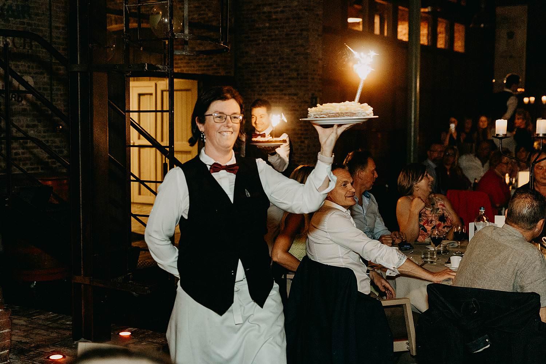 Ter Eeste bruidstaart met vuurwerk