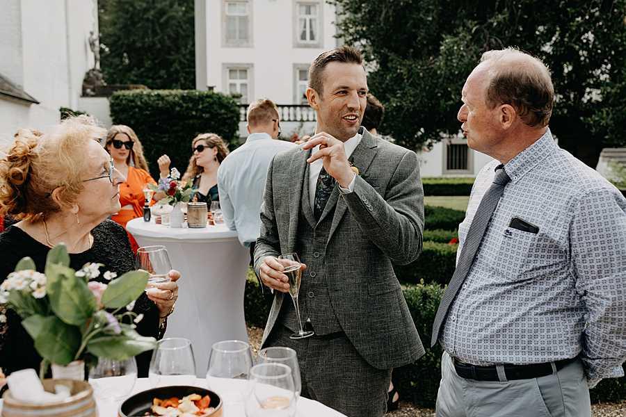 huwelijk receptie tuin wijnkasteel