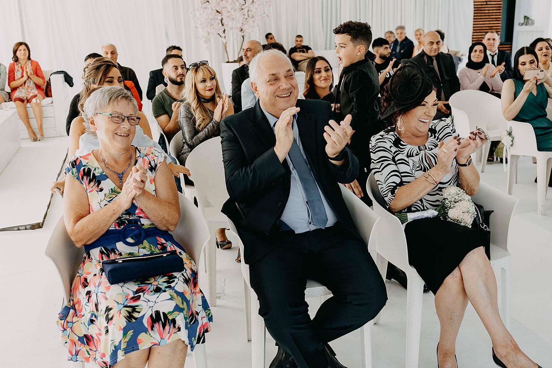 Witte tent binnenceremonie huwelijk Genk