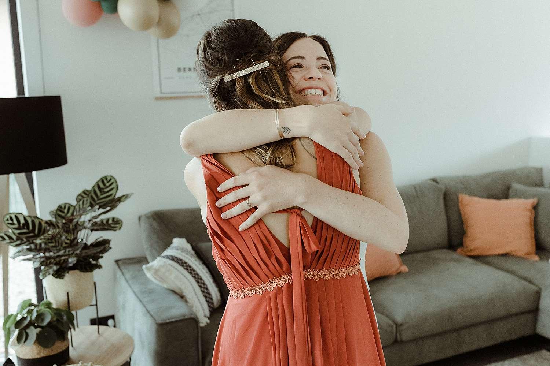 emotioneel moment bruid