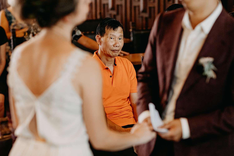 Huwelijk Hasselt bruid en bruidegom ja-woord