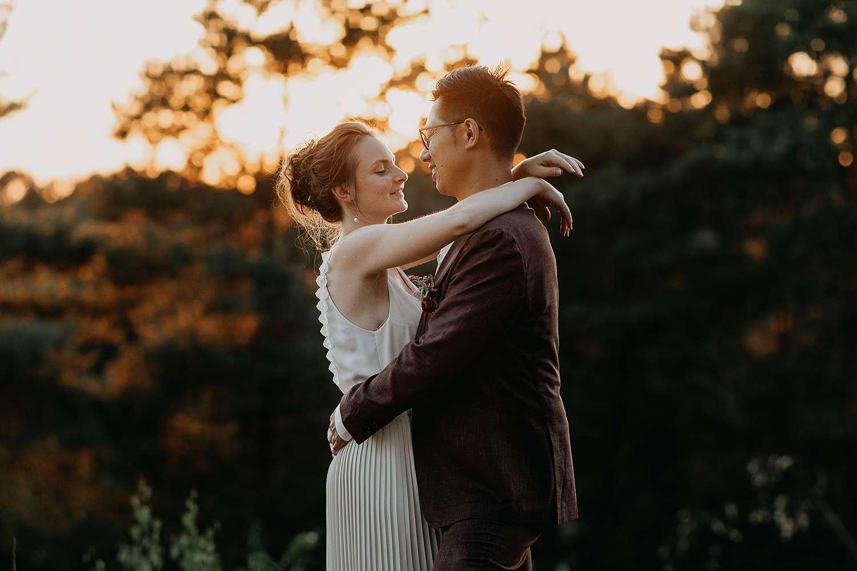 De Teut Zonhoven huwelijksreportage zonsondergang