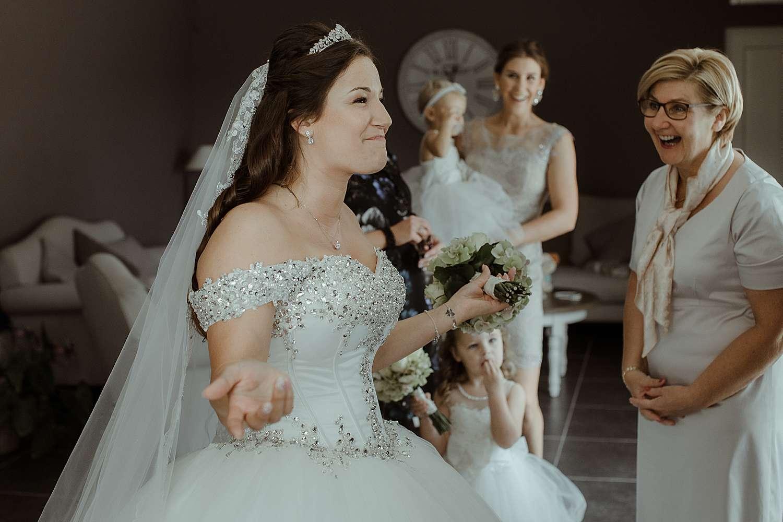 Gezicht bruid voorbereiding huwelijk
