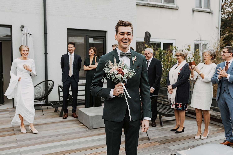 Borgerhout dakterras first look huwelijk