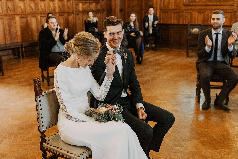 Districtshuis Borgerhout bruidspaar viert huwelijk
