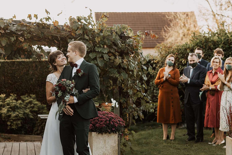 first look tuin huwelijk Bierbeek
