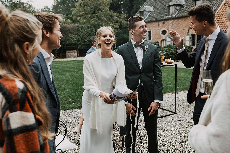 Flinckheuvel Schilde bruidspaar ontvangt gasten