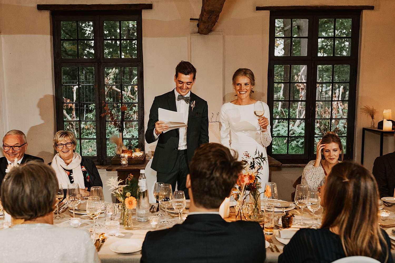 Flinckheuvel Schilde bruidspaar speech feestzaal