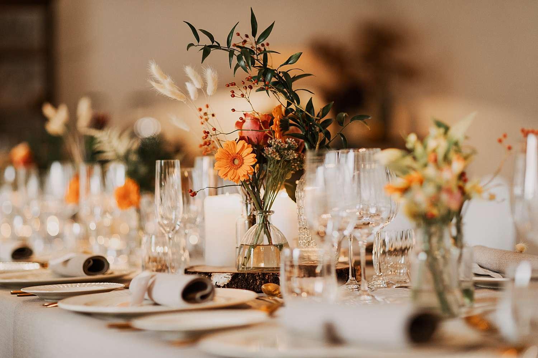 Flinckheuvel feestzaal tafeldekking huwelijk