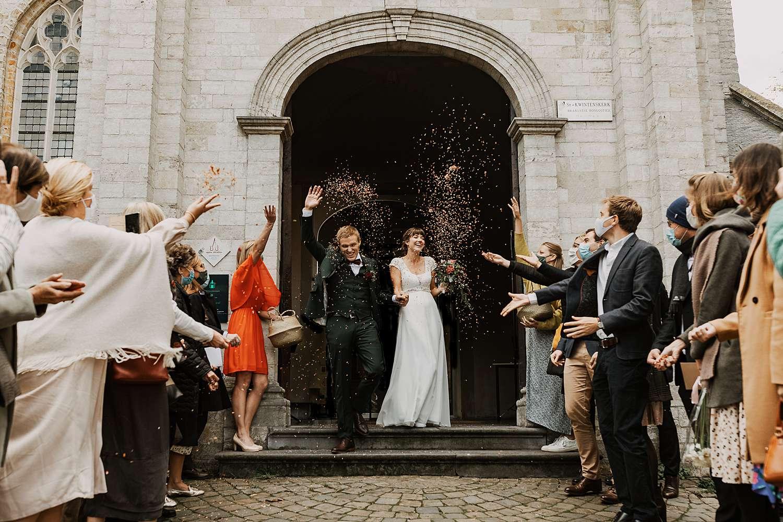 Uittrede huwelijk Sint-Kwintenskerk