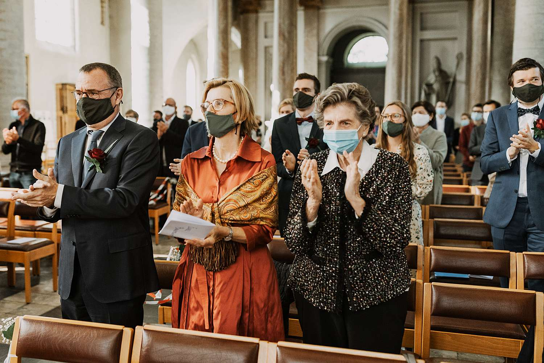 applaus huwelijk Sint-Kwintenskerk