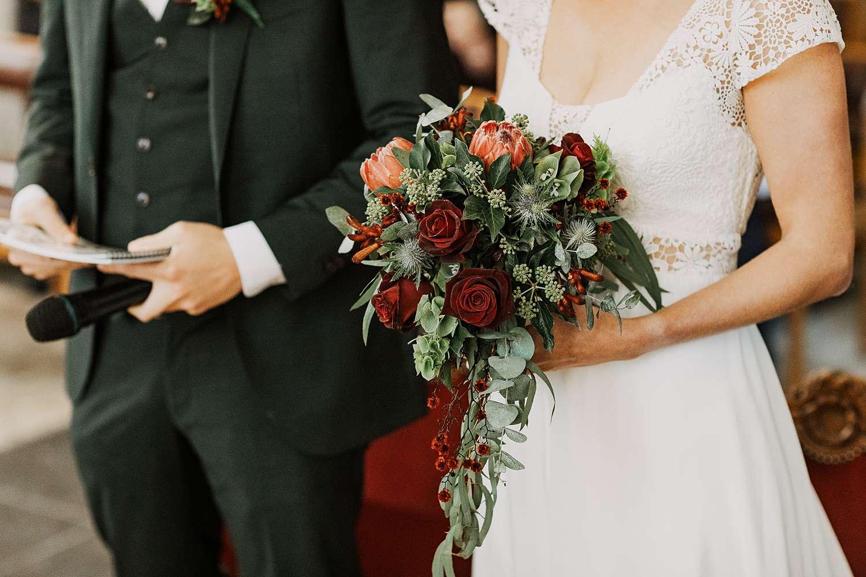 details bruidsboeket huwelijk Sint-Kwintenskerk