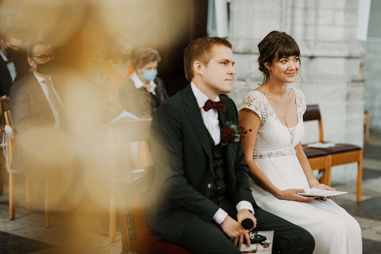 bruidspaar in Sint-Kwintenskerk