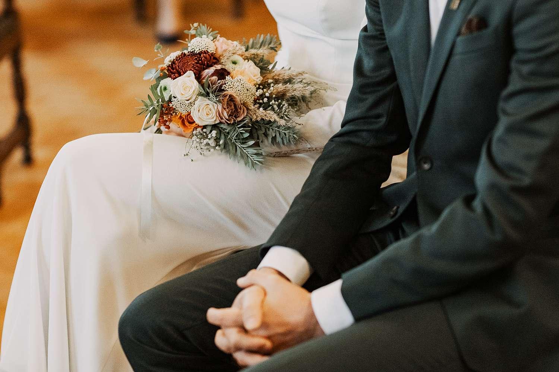 details bruidsboeket huwelijk Districtshuis Borgerhout