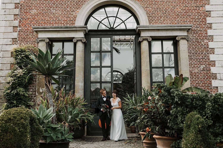 huwelijksreportage serre kruidtuin Leuven
