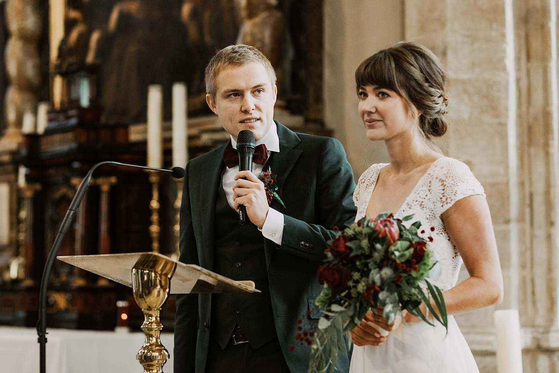 Speech bruidspaar Sint-Kwintenskerk