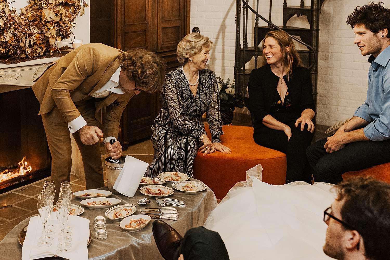 Familie avondfeest Appelterre-Eichem huwelijk