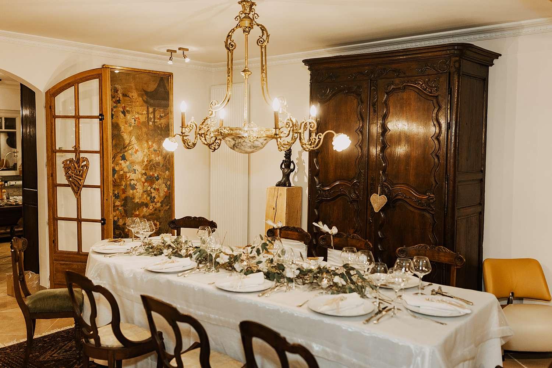 Gedekte feesttafel huwelijk Appelterre-Eichem