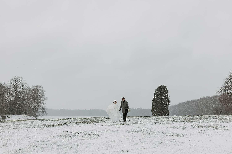 Kasteel van Terhulpen huwelijk sneeuw