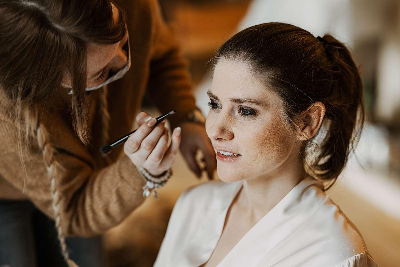 Make-up bruid huwelijk