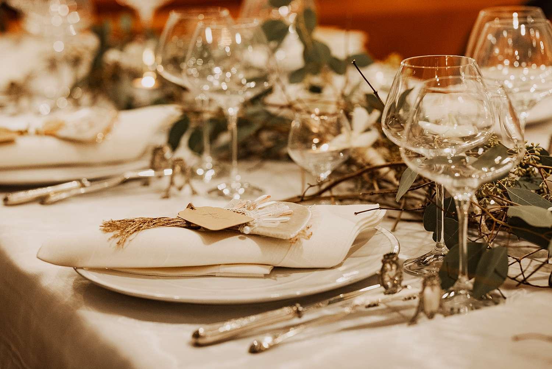 Tafeldekking bruidstafel