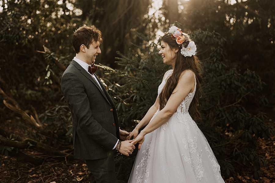 Bruidspaar huwelijk Kasteel van Brasschaat