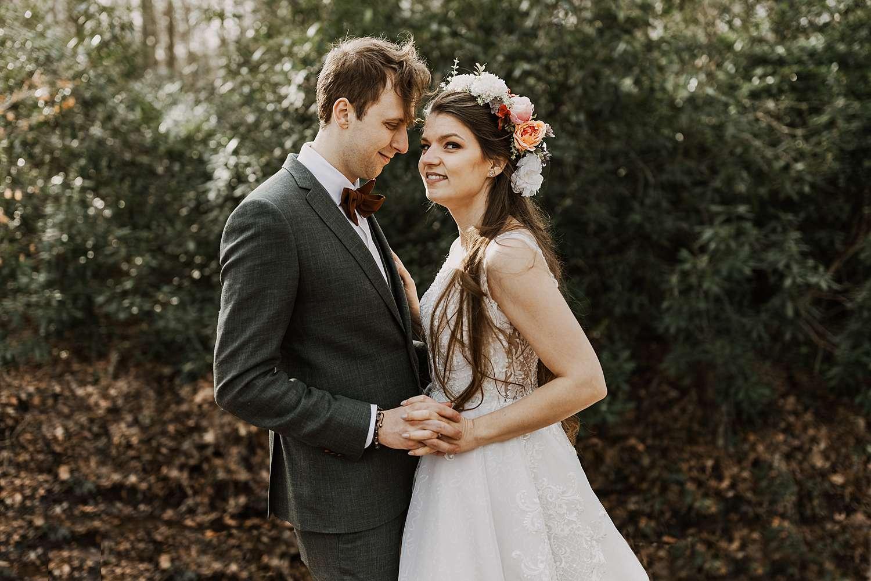 Bruidspaar in park van Brasschaat