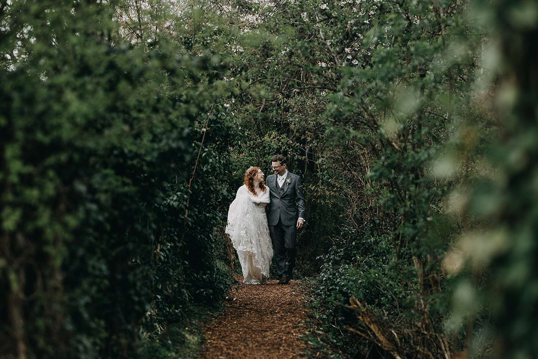 Bruidspaar in bos Borgloon