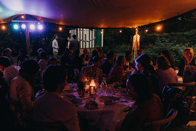 Avondfeest Bohemian hippie wedding