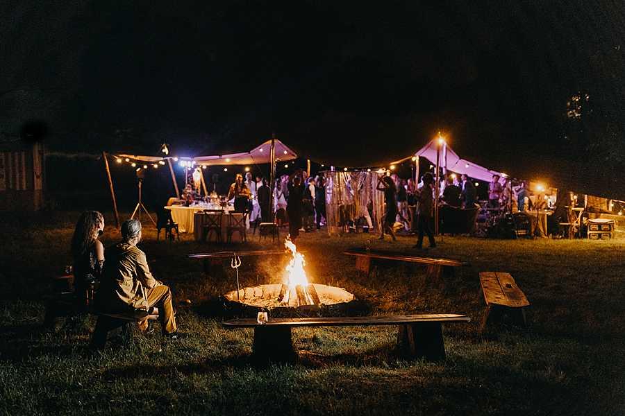 Bohemian hippie wedding party